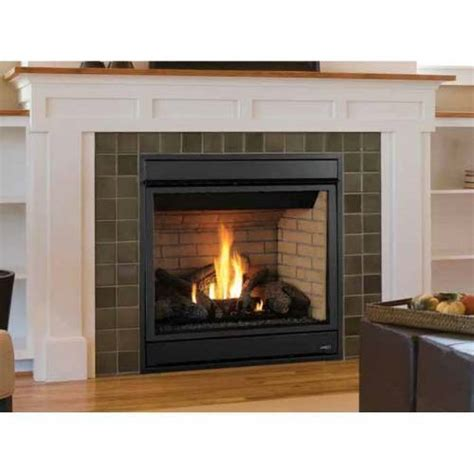 superior merit plus direct vent gas fireplace front view