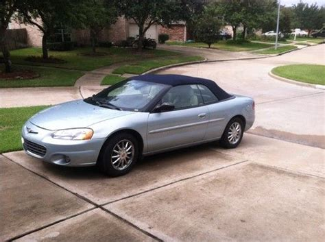 Chrysler Sebring 2001 Convertible by Purchase Used 2001 Chrysler Sebring Lxi Limited