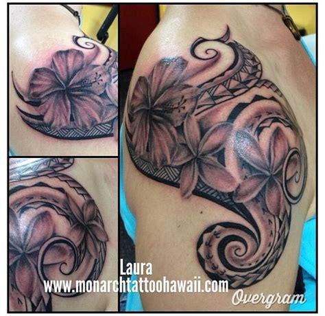 hibiscus tattoo black and grey plumeria hawaiian flower tattoos 4k wallpapers