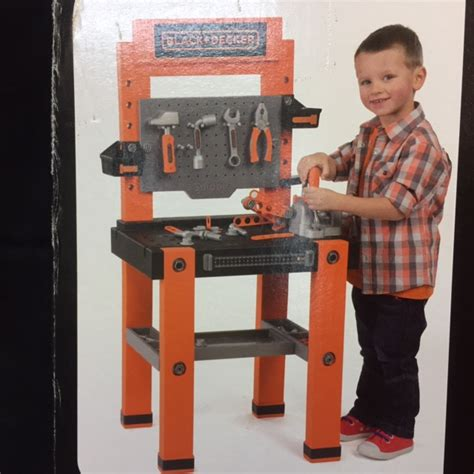 black and decker kids work bench smoby black and decker bricolo one 79 piece work bench ebay