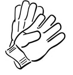 Gloves Winter Clothes Coloring Page Id 16433  Uncategorized sketch template