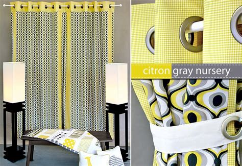 citron colored curtains michael miller fabrics citron gray nursery panel
