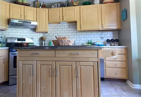faux kitchen backsplash painted subway tile backsplash construction haven home