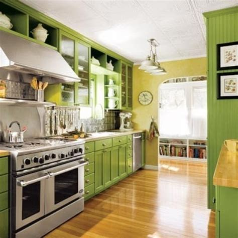 green kitchen cabinets ideas cheerful summer interiors 50 green and yellow kitchen