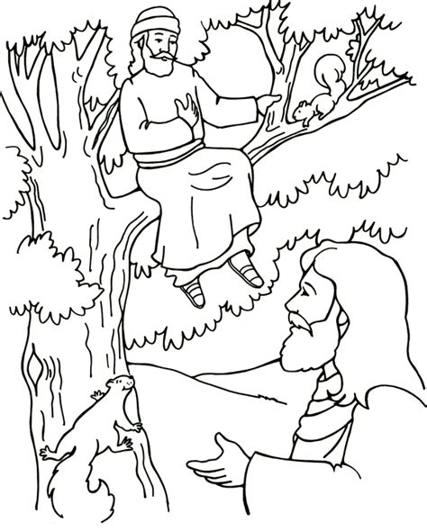 coloring pages story zacchaeus zaccheus coloring pages