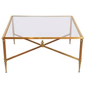 Brass Glass Coffee Table Directoire Style Brass And Glass Coffee Table At 1stdibs