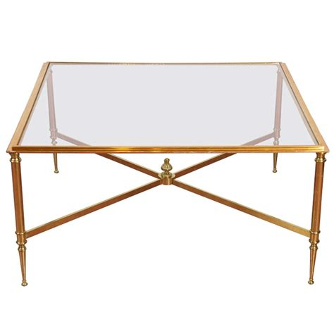 directoire style brass and glass coffee table at 1stdibs