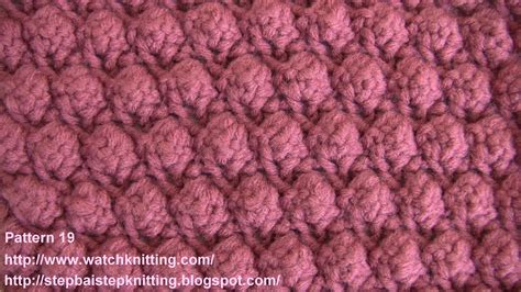knitting pattern embossed knitting stitches knitting
