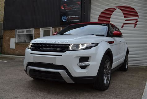 wrapped range rover evoque range rover evoque kandy red detailing reforma uk