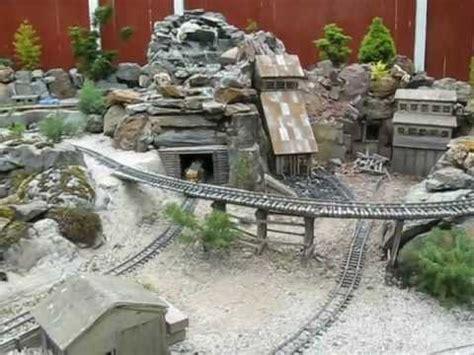 Backyard Railroads G Scale Garden Railway Mining Camp Youtube