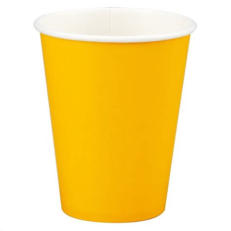 Yellow Paper Cup   12oz