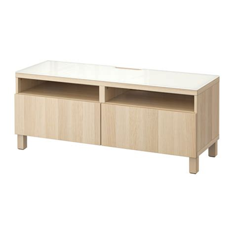 Bench Drawers by Best 197 Tv Bench With Drawers Lappviken White Stained Oak