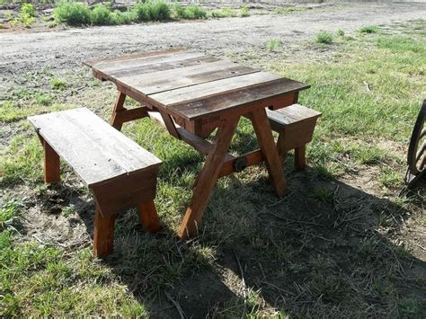 childs or garden bench cedar log pecan legs by jamesrobinson child s pallet and recycled cedar fencing picnic table picnics legs and design