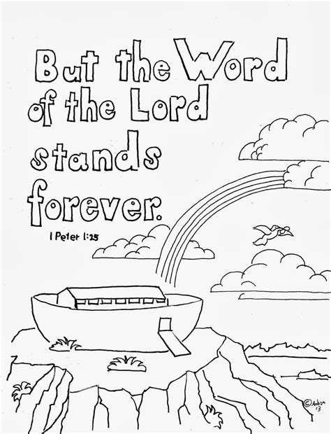 christian word coloring pages coloring pages for kids by mr adron 1 peter 1 25 print