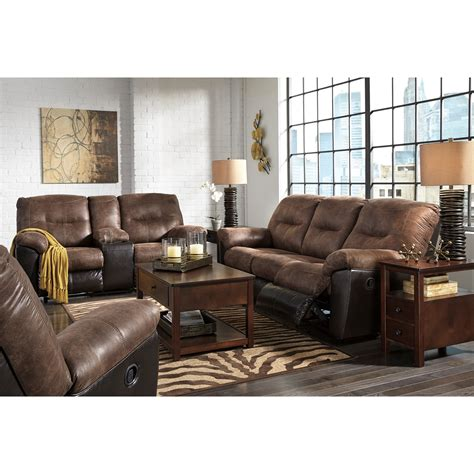 2 tone leather sofa two tone faux leather reclining sofa by signature design