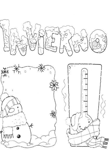 imagenes para colorear vacaciones de invierno dibujos de bienvenido invierno para imprimir y pintar