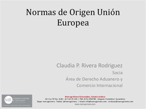 Modelo Curriculum Union Europea Normas De Origen Tlc Colombia Union Europea