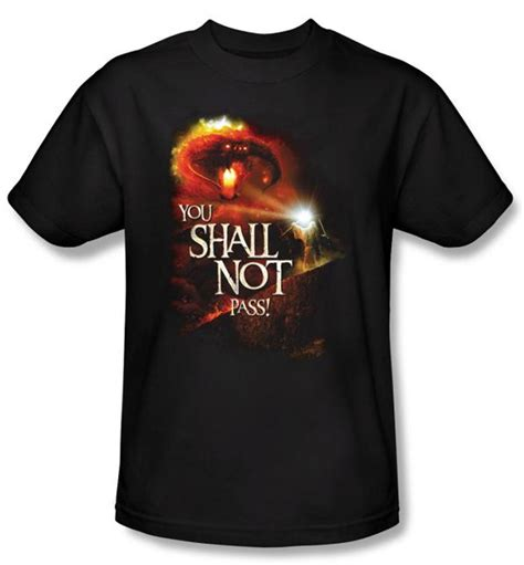 Hoodie Lord Noval Clothing lord of the rings t shirt you shall not pass youth
