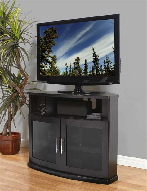 42 tv cabinet with doors plateau newport series corner wood tv cabinet with glass