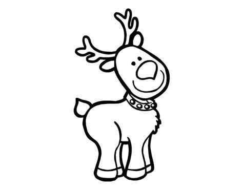 imagenes de navidad para colorear renos dibujo de un reno navide 241 o para colorear dibujos net