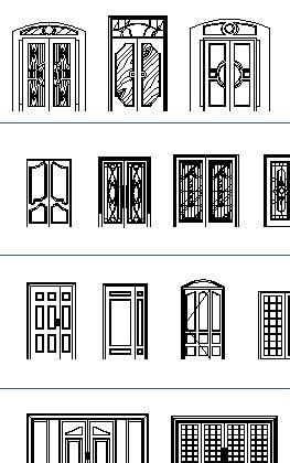 Free Download Kitchen Design by Doors Cad Blocks Thousand Dwg Files Simple Doors Double