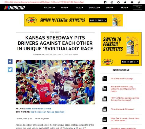 kansas speedway fan walk inbound marketing how the kansas speedway used a virtual