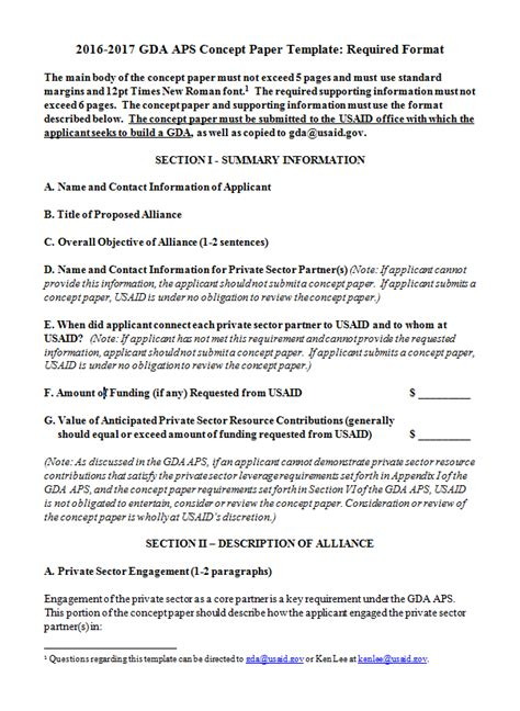 format for writing a concept paper 2016 2017 gda aps concept paper template u s agency for