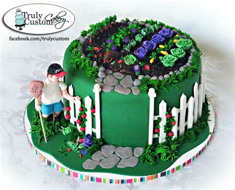 vegetable garden cake vegetable garden cake with groundhog cakecentral