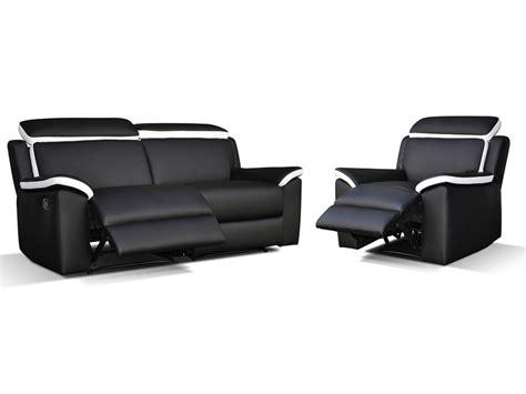 canape et fauteuil relax canap 233 233 t fauteuil relax gris blanc ou noir blanc souffle