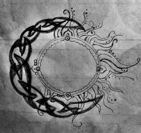celtic sun tattoo a celtic moon and a hindu sun tattoos