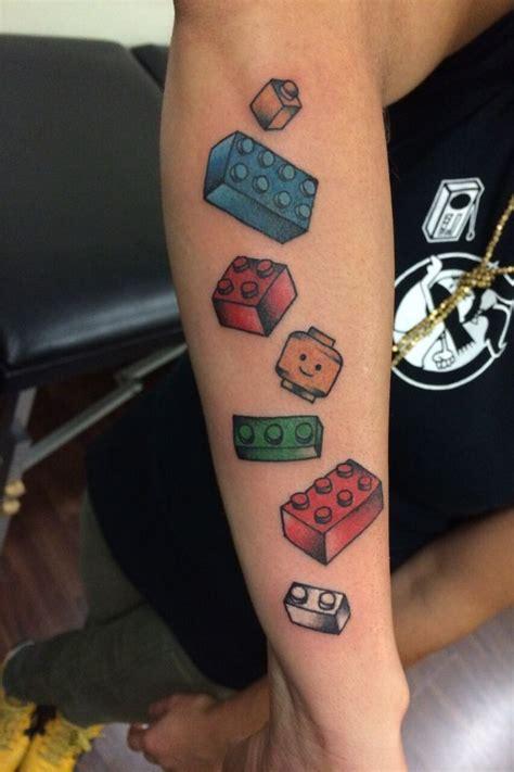 Tattoo 3d Lego | die besten 25 lego tattoo ideen auf pinterest du