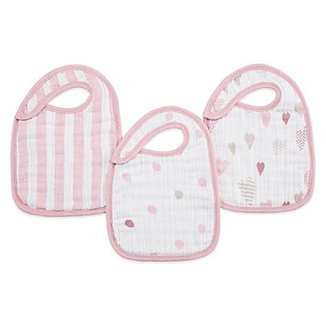 Aden Anais Snap Bibs Muslin Twinkle aden anais 174 3 pack heartbreaker classic muslin snap bib in pink buybuy baby