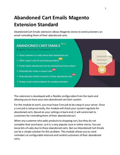Abandoned Cart Emails Magento Extension Standard Abandoned Checkout Email Template
