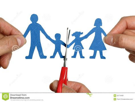 las cadenas familiares divorcio de cadena de papel de la familia imagen de