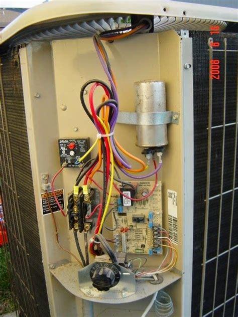 lennox ac contactor  capacitor wiring diagram
