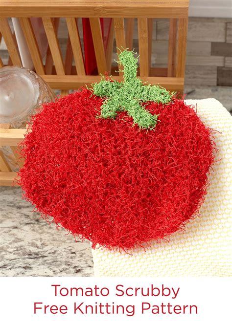 swirl scrubby free crochet pattern in red heart yarns tomato scrubby free knitting pattern in red heart scrubby