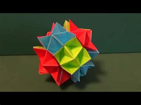 How To Make A Origami Spike - のり不要 スパイクボール ユニット折り紙paste needlessness quot spike