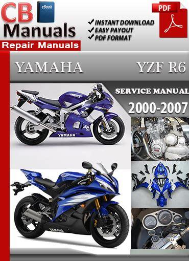 Yamaha Yzf R6 2000 2007 Service Repair Manual Ebooks