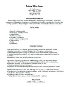 sample resume for landscaping laborer professional construction laborer resume templates to journeyman electrician job description for resume