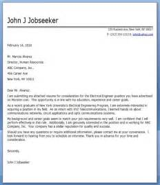 electrical engineering cover letter exles resume