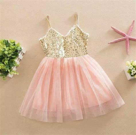 Blus Tafeta Payet 1 gracie dress in peachy pink and gold cake smash