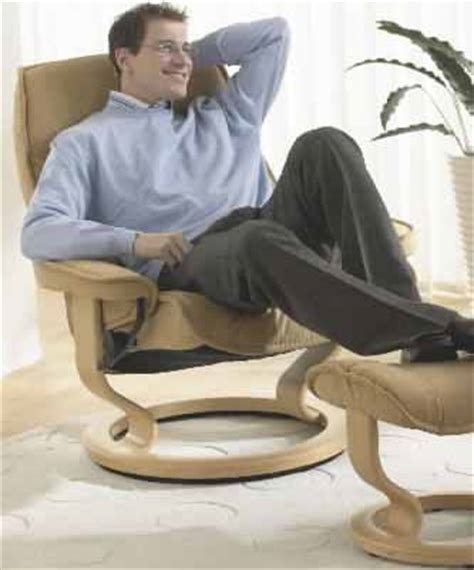 man in recliner ekornes stressless governor and senator recliner chair