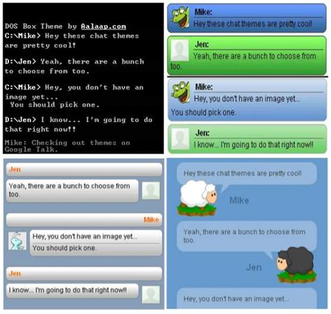 themes for google messenger change install google talk themes download awesome theme