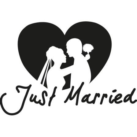 autosticker just married autosticker