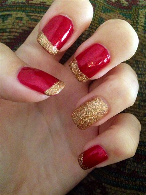 easy nail art red red and gold nails perfect for fall hair nails face