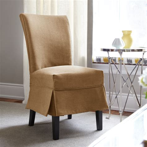 Interior Dark Brown Fabric Sure Fit Dining Room Chair Slipcovered Dining Room Chairs