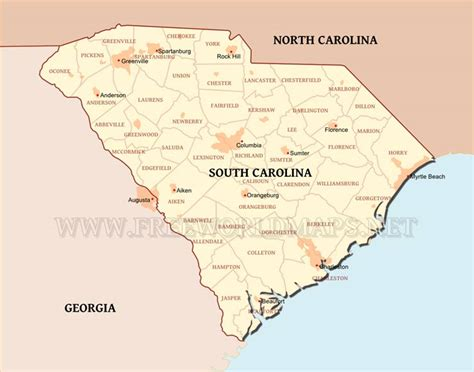 united states map south carolina south carolina maps