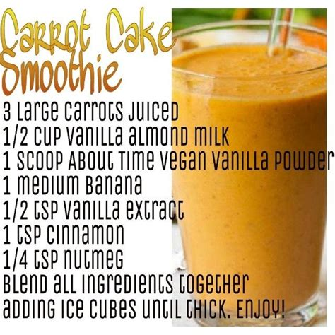 Delish Dish Detox detox with a delish carrot cake smoothie smoothies