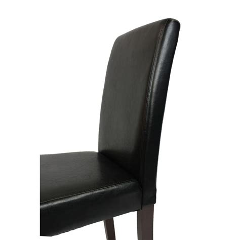 2 black faux leather high back dining room chairs buy