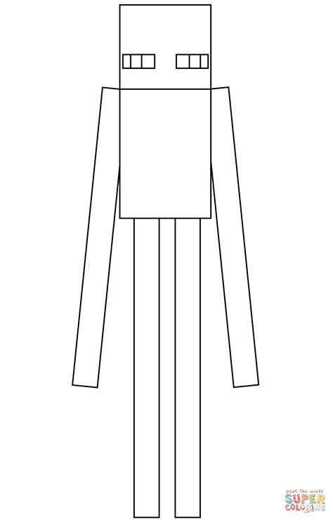 minecraft enderman coloring page free printable coloring